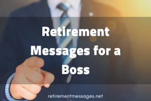 retirement messages for a boss