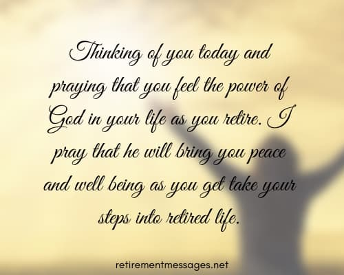 thinking of you retirement prayer