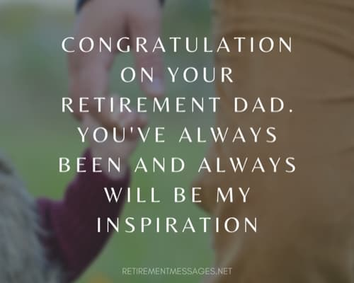 father congratulations retirement message